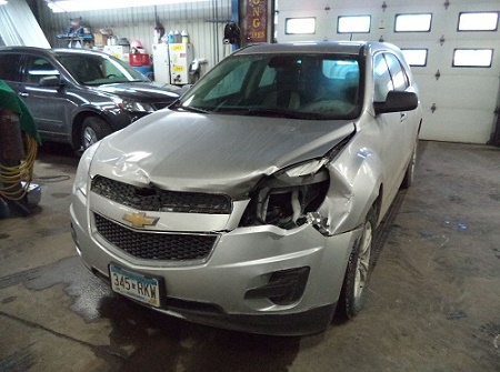 Grey Chevrolet-Before Repairs