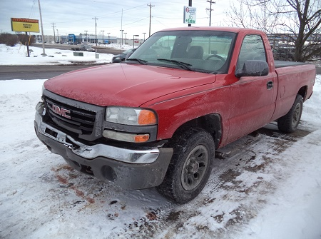 Red GMC Truck-Before Repairs
